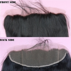 100% Virgin Malaysian Human Hair Bleached Knots Lace Frontals Closure 13x4 Straight Swiss Lace Unprocessed Hair 14inch