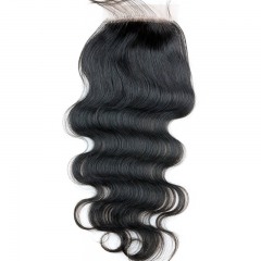 Unprocessed 8A Human Virgin Hair Silk Base Closure Brazilian Body Wave closure 4x4 human hair closure 14inch