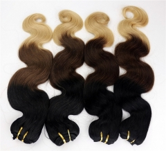 1B4T613 Ombre Wave Hair Brazilian Hair Weft 3 Tone Weave Hair Bundle Body Wave