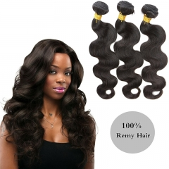 Best Human Hair Weave Unprocessed Brazilian Hair Extensions for Thin Hair Black Body Wave
