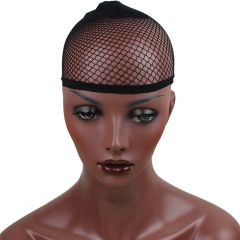 4 colors Stretchable Fishnet Elastic Snood Cap (3 pack, Brown)
