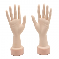 Practice Flexible Mannequin Hand Manicure Nails Display Hand with Soft Fingers (Left hand)