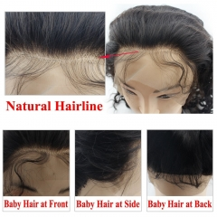 Peruvian Virgin Human Hair 360 Lace Frontal Closure with 2 Bundles Loose Curly Weave
