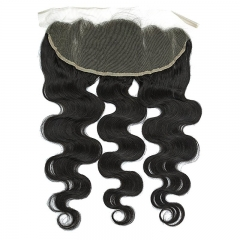 Body Wave 3 Bundles With Lace Frontal(13X4) 8A Unprocessed Virgin Human Hair bundles with ear to ear Lace closure Natural Color