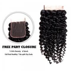 100% Unprocessed Human Curly Hair Malaysian Deep Curly Human Hair 3 Bundles With 4x4 Lace Closure