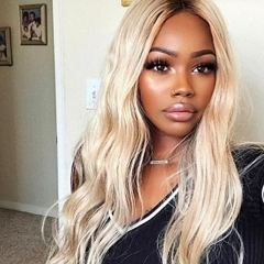 Body Wave 1bT/613 Ombre Blonde Lace Front Wigs For Women Indian Virgin Human Hair With Baby Hair