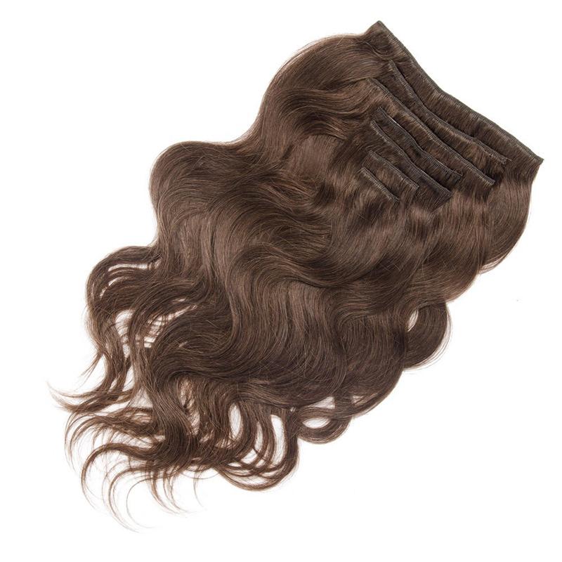 Clip In Hair Extensions Malaysian Body Wave Virgin Hair Cheap Human