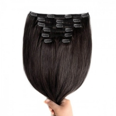 Malaysia Hair 120g Clip In Hair Extensions 100% Real Human Hair
