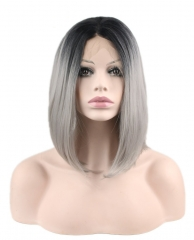 pwigs  CheapTwo Tone Heat Resistant Fiber Wig for Fashion Women