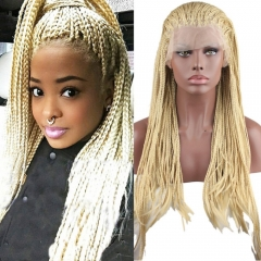 pwigs Cheap Braided Synthetic Lace Front Wigs for Black Women 5Colors