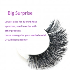 False Eyelashes 3D Mink Fur 100% Siberian Fur Fake Lashes Reusable for Makeup Natural Thick Black Color