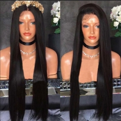 150% Density 13x6 Lace front Wigs For Black Women Straight hair Wig Extra Long Part Space with Baby Hair