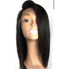 Deep Part 13x6 Short Bob 150% Density Lace Front Wigs Full Lace Wigs for Black Women Brazilian Human Hair Glueless Silky Straight Lace Wig