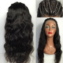 Pre Plucked 13x6 Lace Front Wigs 150% Density Brazilian Virgin Hair Wig Glueless Natural Wave Lace Front Human Hair Wigs