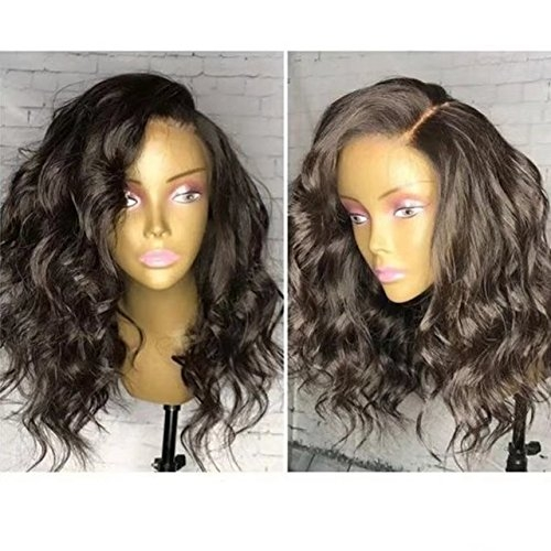 13X6 Deep Part Front Lace Human Hair Short Wigs Unprocessed Brazilian Remy Hair Short Wavy Full Lace Wigs For Black Woman
