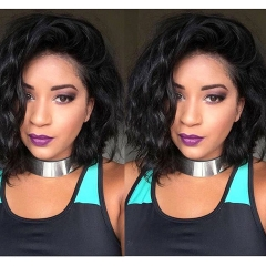 Very Short Bob Pixie Cut Black Women 13x6 Lace Wigs Natural Wave Brazilian Virgin Human Hair Wig