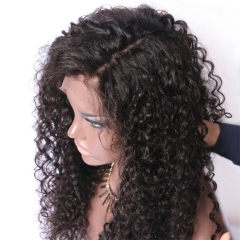 Loose Curly Frontal Lace Wigs Pre Plucked Hairline 150% Density Peruvian Remy 13x6inch Deep Part Human Hair Lace Front Wig For Black Women