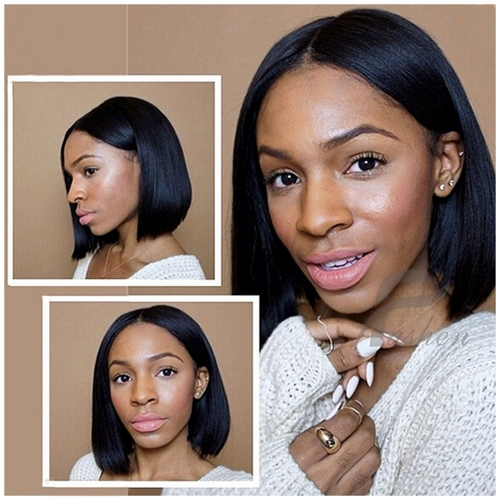 13x6 Lace Front Wig Short Bob Wigs for Black Women Full Lace Front Wigs Silky Straight Human Hair Bob Short Pixie Cut Wig