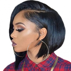 150% Density Brazilian Virgin Straight Human Hair Bob Wig Unprocessed Short Human Hair Lace Front Wigs 13x6 Lace Frontal for Black Women Cheap