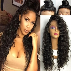 8A Brazilian 13X6 Lace Front Wigs Wet Water Wave Beyonce Lace Front Human Hair Wigs Virgin Human Hair 150% density Top Lace Wigs Black Women