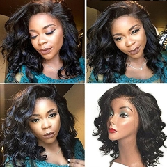 13x6 Lace Front Wigs 150% Density Loose Wavy Brazilian Remy Hair Glueless Human Hair Wigs for Black Women Lace Front Wig Short Wigs with Baby