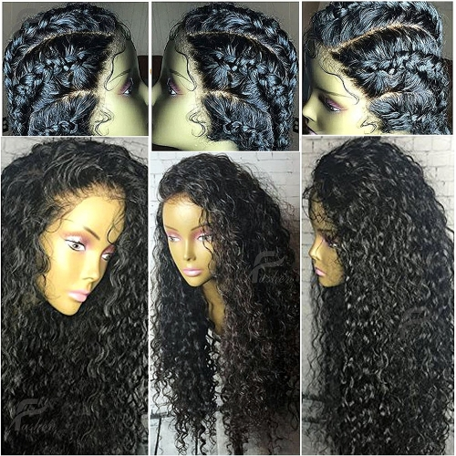 Lace Front Wigs 150% Density 13x6 Lace Human Hair Wigs for Black Women Curly Remy Hair Wigs Full Lace Front Wigs with Baby Hair