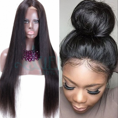 Hair Brazilian Silky Straight Human Hair Full Lace Wigs with Baby Hair 13X6 Lace Front Wigs for Black Women Pre Plucked Hairline