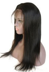 Brazilian Virgin Human Hair Straight Style 150% Density 13x6 Lace Wigs Natural Color