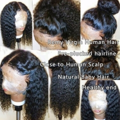 150% Density 13x6 Lace Front Wigs Human Hair for Black Women Curly Remy Virgin Hair Glueless Lace Front Wigs with Baby Hair