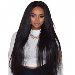 180% Density Silky Straight Lace Wigs Human Hair With Baby Hair Glueless 13x6 Silky Straight Lace Front Human Hair Wigs Malaysian Hair For Black Woman
