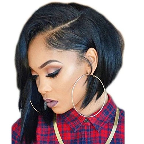 150% Density Brazilian Straight Human Hair Bob Wig Unprocessed Short Human Hair Lace Front Wigs 13x6 Lace Frontal for Black Women Cheap