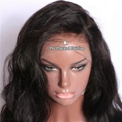 13X6 Deep Part Human Hair Lace Front Wigs Short Loose Wave Side Part Lace Wigs with Baby Hair Natural Color Short Bob Wavy for Black Woman Pre Plueked