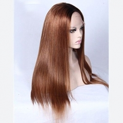 #30 Silky Straight 130% Density Silk Base Full Lace Wig Pre-Plucked Lace Wigs With Baby Hair
