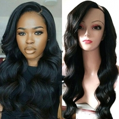 U Part Wig Virgin Brazilian Hair Loose Body Wave Hair Glueless U Part 100% Real Human Hair Wigs For Natural Color