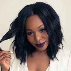 Short Bob Human Hair Wigs U Part Wig For Black Women Natural Wave Natural Color Brazilian Hair