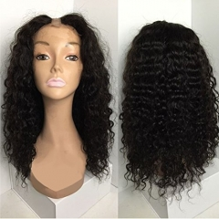 U Part Wigs Unprocessed Peruvian Virgin Human Hair For Black Women Deep Wave U Part Wig Natural Color