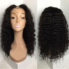 U Part Wigs Unprocessed Peruvian Human Hair For Black Women Deep Wave U Part Wig Natural Color