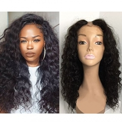 U Part Wigs Unprocessed Peruvian Human Hair For Black Women Deep Wave U Part Wig Natural Color