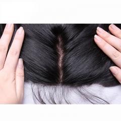 Malaysian Hair Deep Wave Human Hair Bundles 13*4 Silk Base Lace Frontal Closure With 3 Bundles