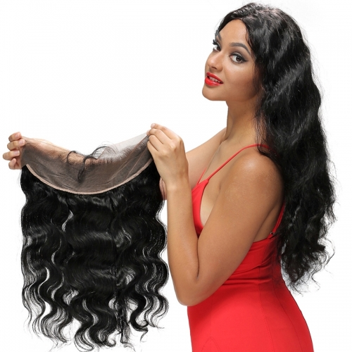 Pre Plucked Lace Frontal Closure 13x4 Body Wave Brazilian Remy Hair With Baby Hair Natural Hairline Free Part