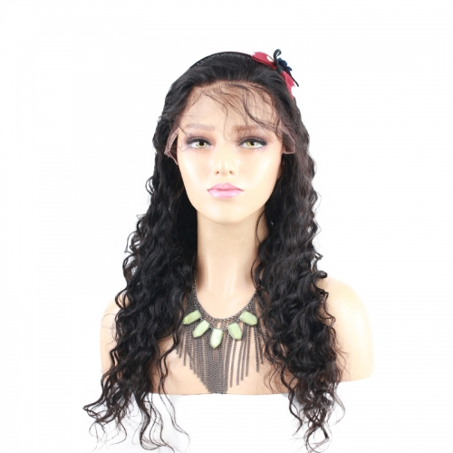 Human Hair Full Lace Wigs Fashion Deep Wave 180%Density Wigs With Baby Hair Pre-Plucked Natural Hair Line