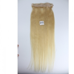 High Quality Brazilian Virgin Hair 613# Blonde Color Flip Hair Extension 100g/pc 100 Human Hair Straight Flip Hair Extension