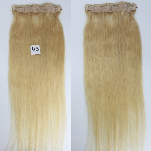 Brazilian Remy Hair 613# Blonde Color Flip Hair Extension 100g/pc Human Hair Straight Flip Hair Extension