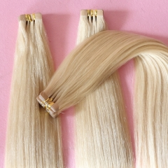 Popular Brazilian Hair Extensions Silky Straight 100% Human Hair Tape Extension Color #613