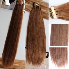 Brazilian Human Hair Tape Hair Extensions 100% Real Human Hair Brazilian Ombre Hair Color #30 Brown Tape Hair