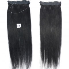 Flip Hair Extension 8A Unprocessed Brazilian Virgin Hair Color #1 Flip Hair Extension 100 Human Hair Straight Hair