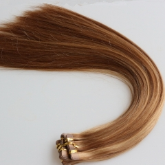 Best Selling Unprocessed Virgin Malaysian Hair Piano Color Tape In Hair Extensions Silky Straight Human Hair Adhesive Tape Hair 27/30 color