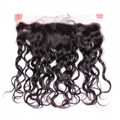 Silk Base Frontal With Pre Plucked Water Wave Lace Frontals Closure Malaysian Human Hair