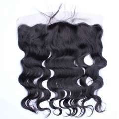 Body Wave Silk Base Closure 13x4 Lace Frontal Closure Natural Color Brazilian Virgin Hair Pre Plucked With Baby Hair Free Part