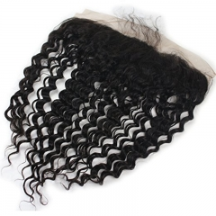 "Ear To Ear Lace Frontal Closure Silk Base Deep Wave 13""x4"" Free Part Virgin Brazilian Best Human Hair Lace Front Closures Invisible Knots"